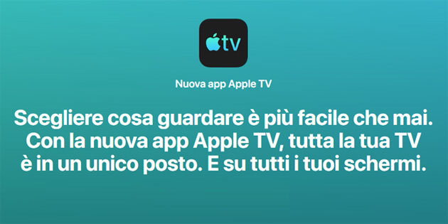 Foto Nuova app Apple TV la fine del box Apple TV, forse