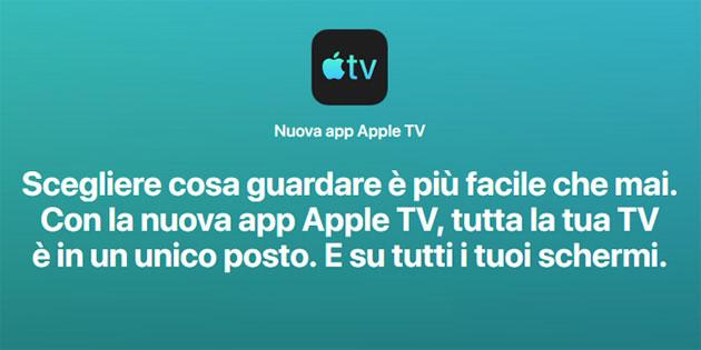 Nuova app Apple TV la fine del box Apple TV, forse