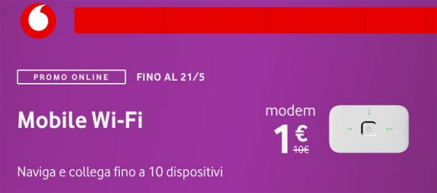Vodafone Mobile Wi-Fi R216h a 1 euro con le offerte Giga fino al 21 maggio