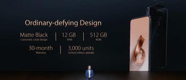 Asus ZenFone 6 Edition 30 con 12GB RAM e 512 ROM in Italia