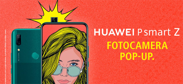 Huawei P Smart Z 2019, primo smartphone Huawei con camera frontale pop-up