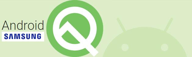 Android 10 Q sui dispositivi Samsung Galaxy esistenti: primo elenco non ufficiale