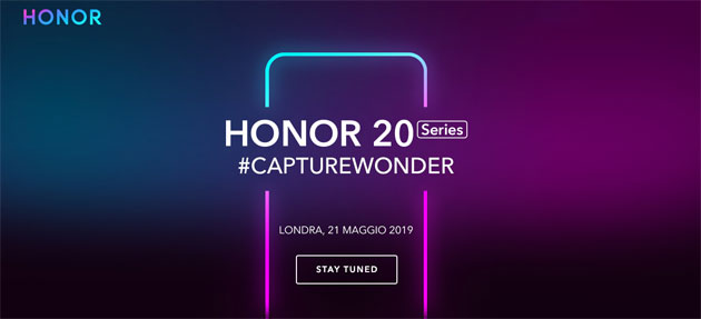 Foto Honor 20 Series, diretta streaming annuncio di Honor 20, 20 Pro e 20 Lite