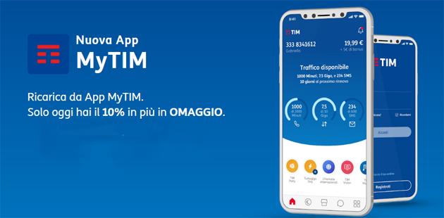 TIM regala bonus Ricarica su App MyTIM oggi 13 Maggio