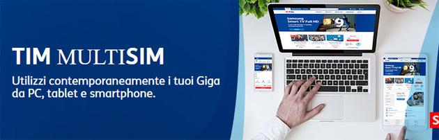 TIM MultiSIM, opzione per condividere i giga con una seconda SIM