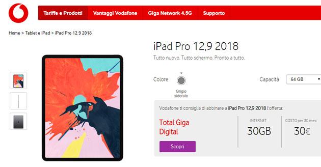 Vodafone, i Tablet che si possono acquistare a Rate
