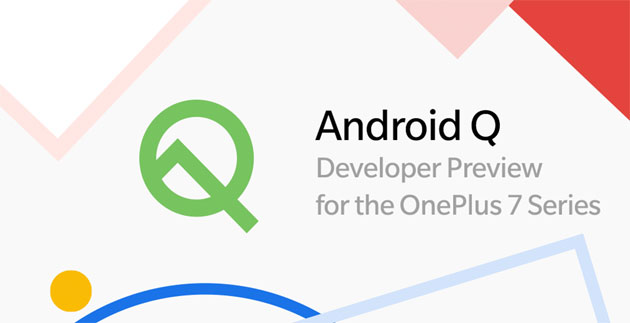 Foto OnePlus 7 Series, Android Q beta (Developer Preview) disponibile