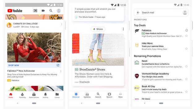 Google aumenta gli annunci pubblicitari nei suoi prodotti mobile e anticipa nuova esperienza di Shopping