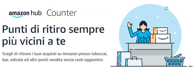 Foto Amazon Counter fa ritirare gli ordini nei negozi partner