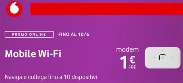 Vodafone Mobile Wi-Fi R216h a 1 euro con le offerte Giga fino al 20 giugno
