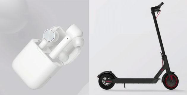 Xiaomi Mi True Wireless Earphones e Mi Electric Scooter Pro in Italia
