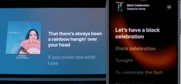 Apple Music mostra i testi delle canzoni sincronizzati come un karaoke