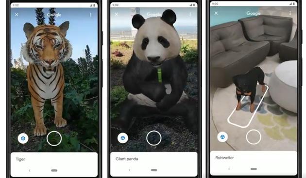 Google Ricerca, primi contenuti in AR disponibili