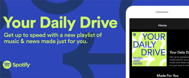 Foto Spotify lancia Your Daily Drive, playlist che combina notizie da podcast e musica, ideale da ascoltare in auto