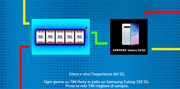 Foto Samsung Galaxy S10 5G in regalo con TIM Party