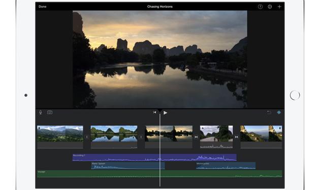 Apple porta l'effetto schermo verde su iMovie per iOS