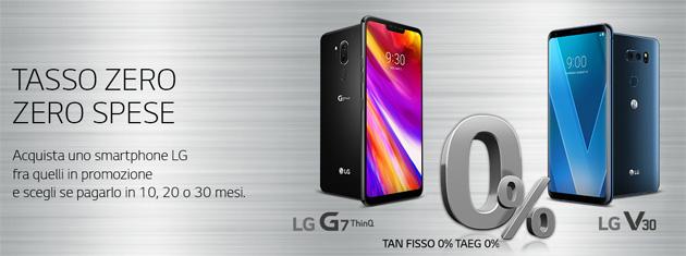 Smartphone LG a rate con Tasso Zero per tutto il 2019: ecco come