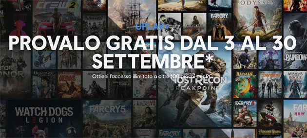 Ubisoft annuncia Uplay Plus, accesso illimitato a oltre 100 giochi per PC. Nel 2020 arriva su Google Stadia