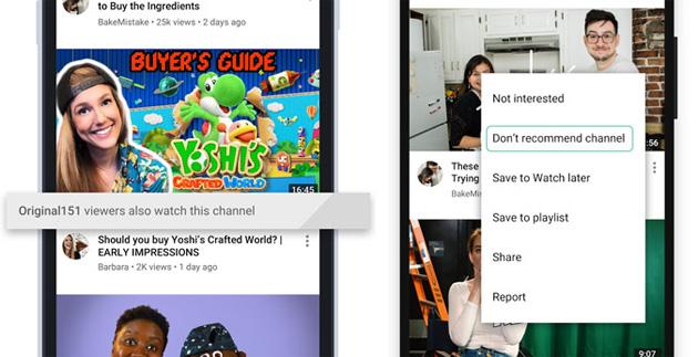 Youtube migliora il controllo dei video in Home page e Up Next