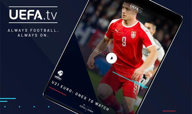 UEFA lancia app UEFA.tv per accedere al suo servizio di streaming gratuito da iOS e Android