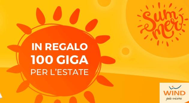 Wind regala 100 Giga per tutta l'Estate con alcune offerte