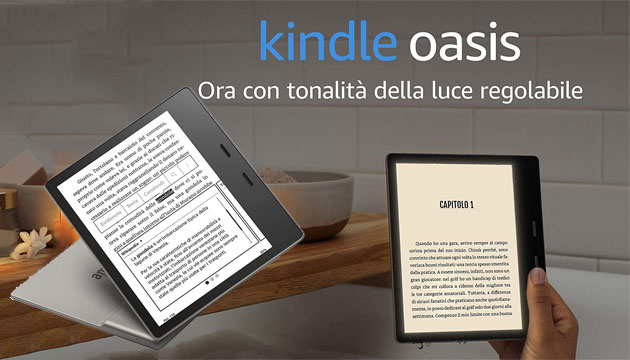 Foto Amazon annuncia Kindle Oasis 2019 con tono di luce regolabile