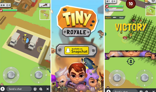 Tiny Royale su Snapchat, gioco sparatutto multiplayer
