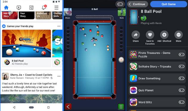 I giochi istantanei di Facebook lasciano Messenger