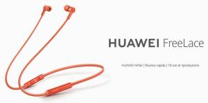 Huawei FreeLace, cuffie wireless con associazione intelligente ora in Italia