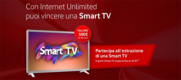 Vodafone Internet Unlimited regala 3 Smart TV al giorno