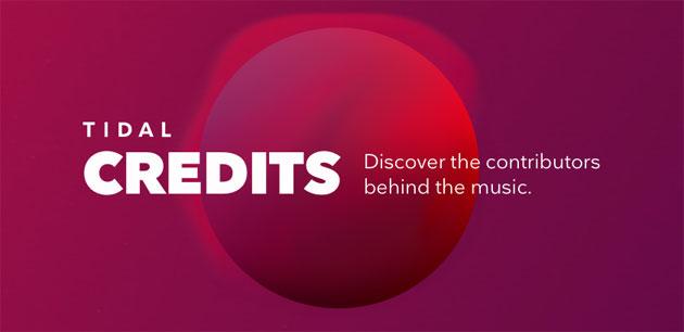 TIDAL Credits mostra i contributori dietro la musica