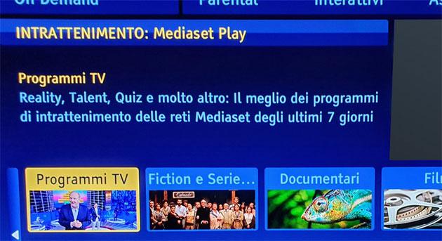Mediaset Play su Sky On Demand (e presto anche su Sky GO)