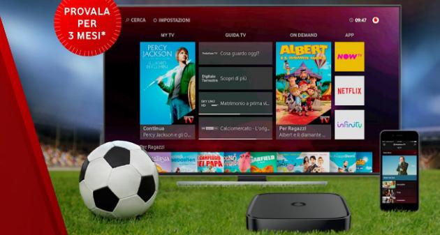 Vodafone TV in prova per 3 mesi, come funziona