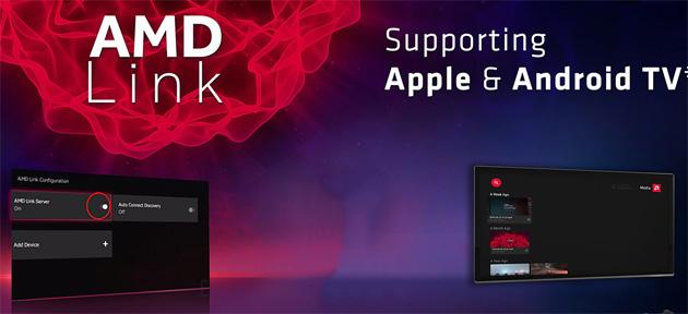 AMD Link supporta lo streaming di giochi per PC su Android TV e Apple TV