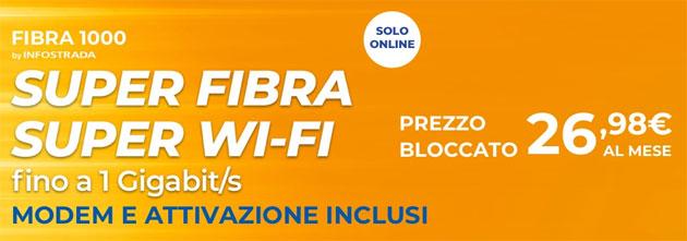 Wind Fibra1000: Internet dentro e fuori casa alla massima velocita' disponibile a 26,98 euro al mese