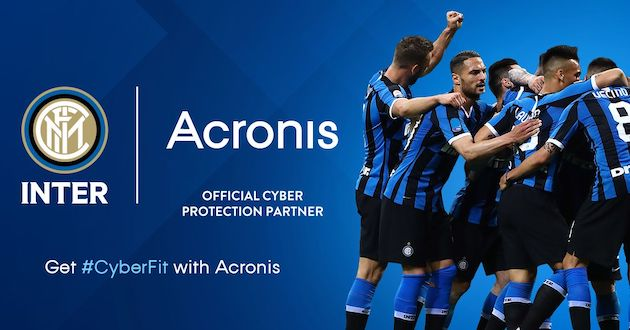 Foto Acronis official cyber protection partner della FC Internazionale