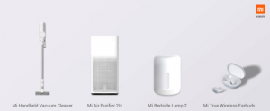 Xiaomi presenta in Italia Mi Vacuum Clenaer, Air Purifier 2, True Wireless Earbuds e Bedside Lamp 2