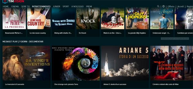 Su TIMvision i contenuti di Mediaset. Come funzionano i canali lineari in live streaming su TIM Box (aggiornato)