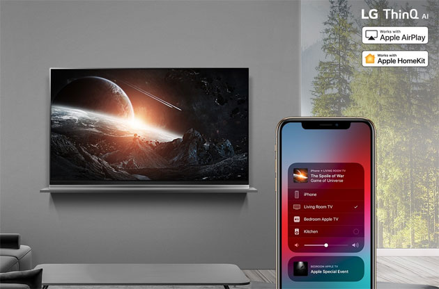 Foto Lg annuncia Apple AirPlay 2 e HomeKit su alcuni smart TV 2018 entro fine anno, intanto ora disponibile la app Apple TV
