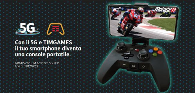 TIMGames Mobile trasforma lo smartphone 5G in console portatile