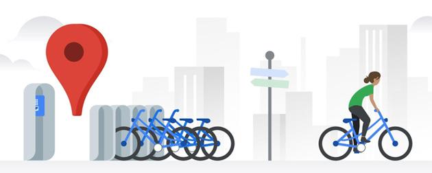 Google Maps mostra dove prendere una bici condivisa in 24 citta'