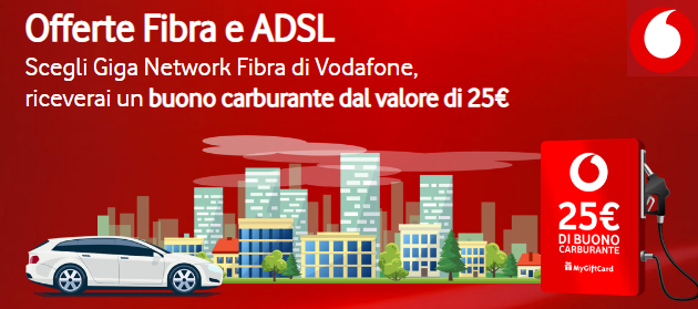 Foto Vodafone Internet Unlimited regala 25 euro in Buono Carburante