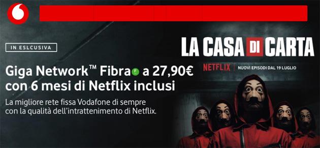 Vodafone Fibra regala 6 mesi di Netflix