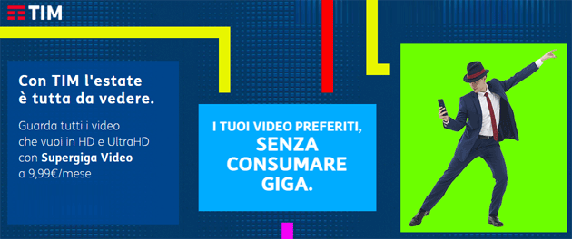 TIM Supergiga Video per non consumare giga su Netflix, Youtube, Prime Video e altre app di video