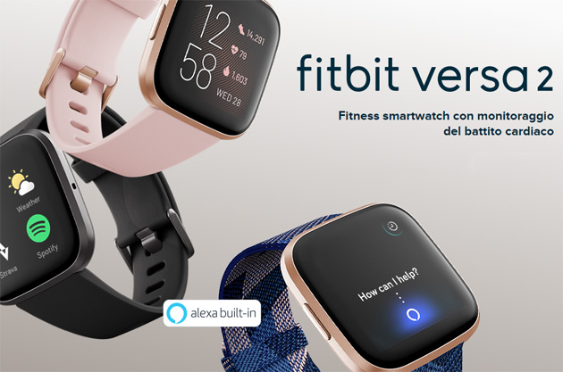 Fitbit Versa 2 con Alexa e display AMOLED: Caratteristiche, Foto, Video e Prezzi