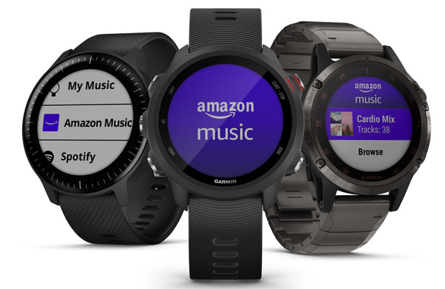 Amazon Music sui wearable Garmin