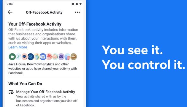 Facebook fa gestire i dati che app e siti web condividono con Facebook