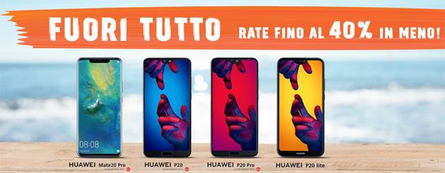 Fuori Tutto Wind prorogato di una settimana: smartphone Huawei con rate a prezzo speciale fino al 8 settembre