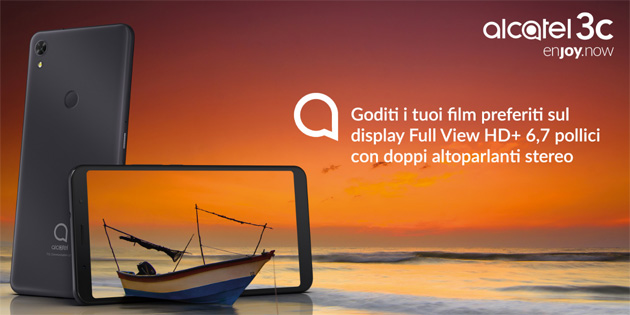 Alcatel 3C 2019 in Italia, smartphone economico con pulsante Google Assistant
