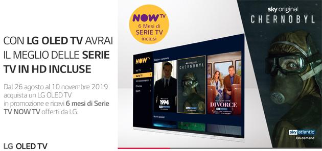 LG regala 6 mesi di serie su NOW TV, la Internet TV di Sky